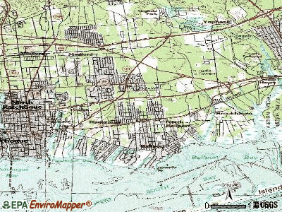 North Bellport topographic map