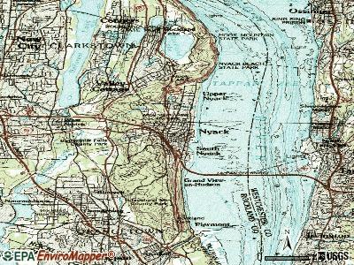 Nyack topographic map