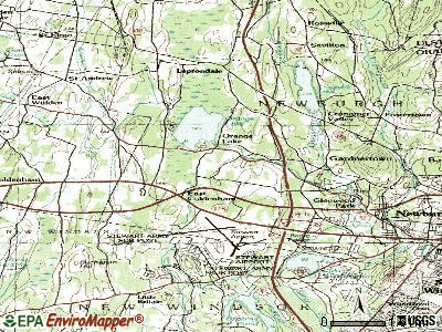 Orange Lake topographic map
