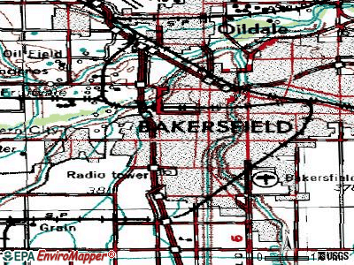 Bakersfield topographic map