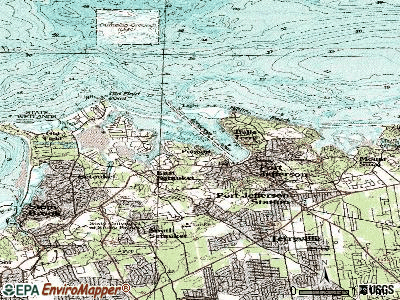 Poquott topographic map