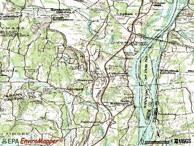 Ravena topographic map