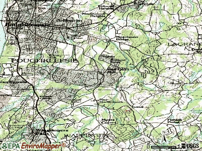 Red Oaks Mill topographic map