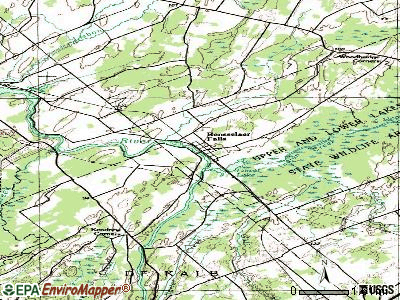 Rensselaer Falls topographic map