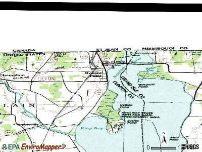 Rouses Point topographic map