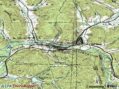 Salamanca topographic map