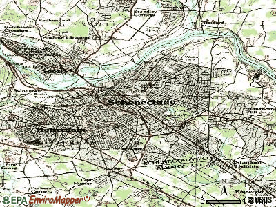 Schenectady topographic map