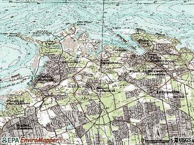 Shelter Island Heights topographic map