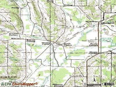 South Dayton topographic map