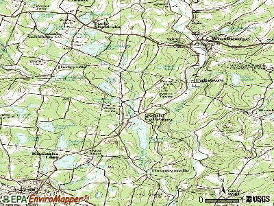 South Fallsburg topographic map
