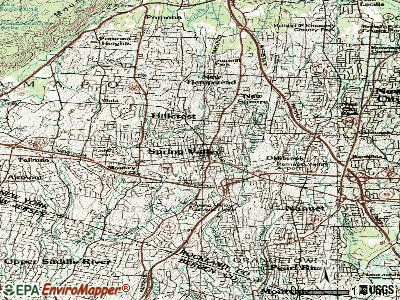 Spring Valley topographic map