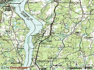 Staatsburg topographic map