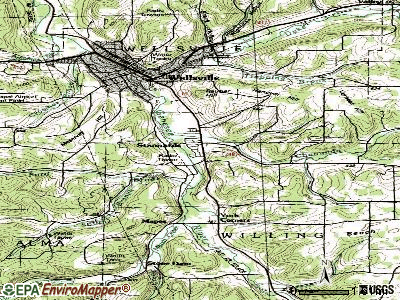 Stannards topographic map