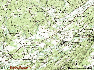Stone Ridge topographic map