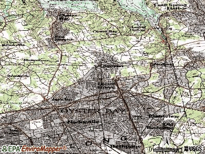 Syosset topographic map