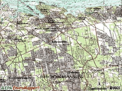 Terryville topographic map