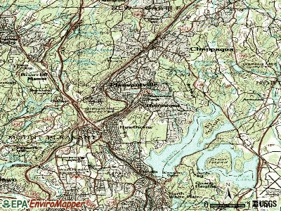 Thornwood topographic map