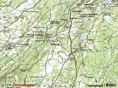 Tillson topographic map