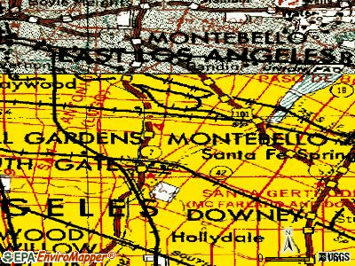 Bell Gardens topographic map