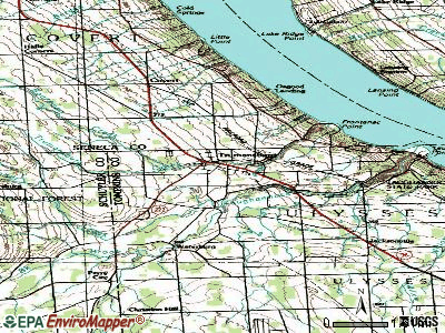 Trumansburg topographic map