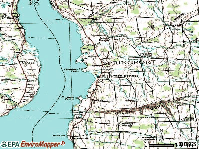 Union Springs topographic map