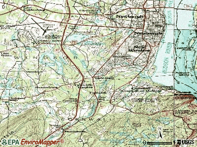 Vails Gate topographic map