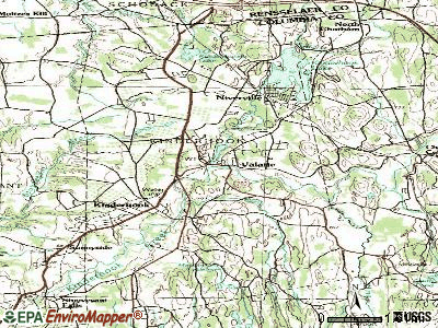 Valatie topographic map