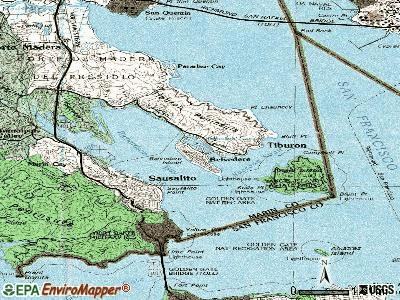 Belvedere topographic map
