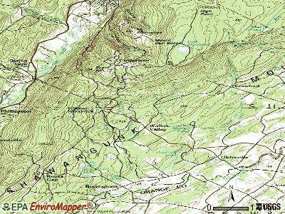 Walker Valley topographic map