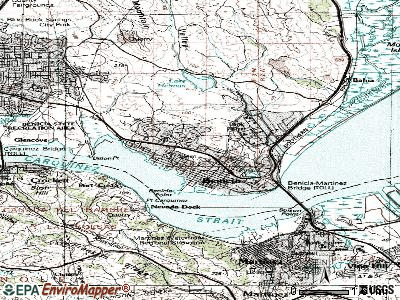 Benicia topographic map