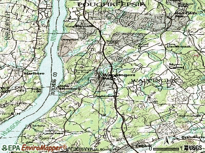 Wappingers Falls topographic map