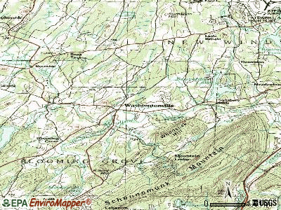 Washingtonville topographic map