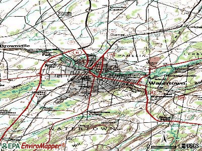 Watertown topographic map