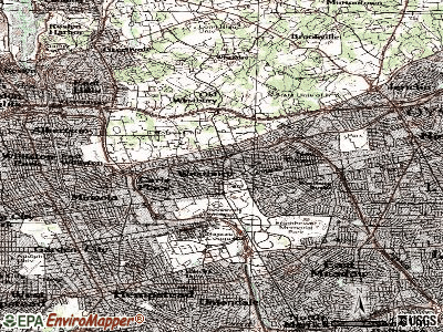 Westbury topographic map
