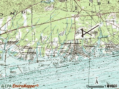 Westhampton topographic map