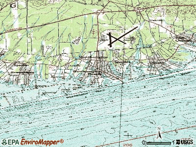 Westhampton Beach topographic map