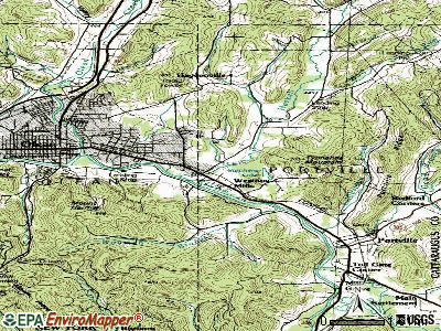 Weston Mills topographic map