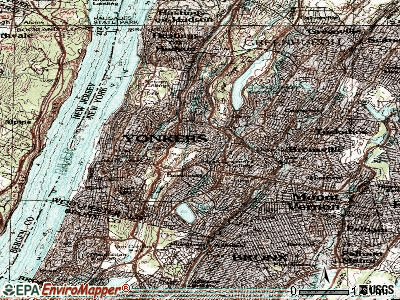 Yonkers topographic map