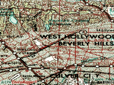 Beverly Hills topographic map