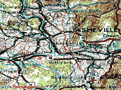 Asheville topographic map