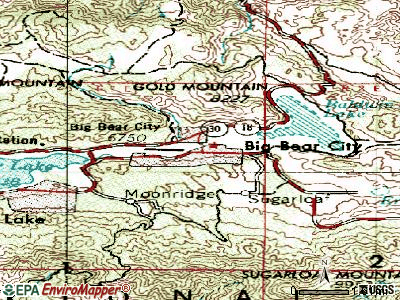 Big Bear City topographic map