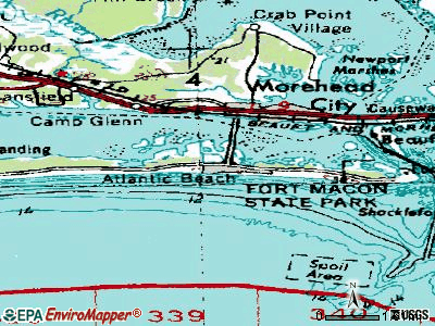 Atlantic Beach topographic map