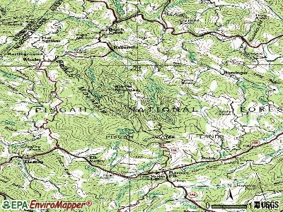Beech Mountain topographic map