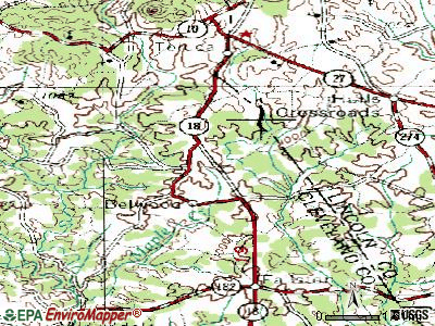 Belwood topographic map