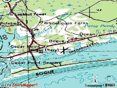 Bogue topographic map