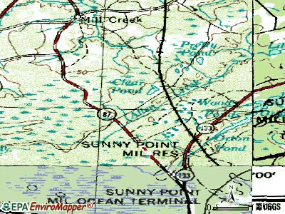 Boiling Spring Lakes topographic map