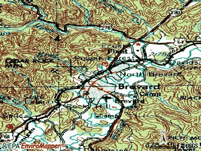 Brevard topographic map