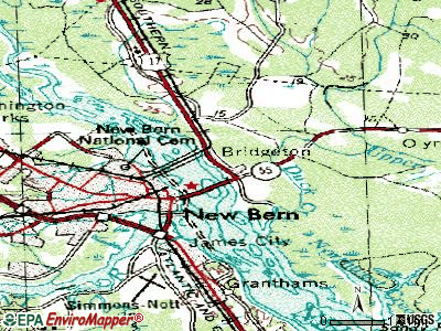 Bridgeton topographic map