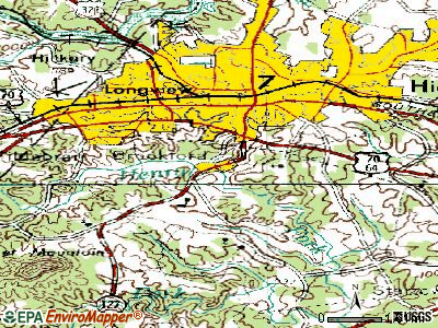 Brookford topographic map