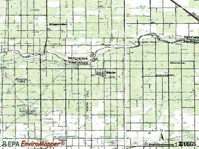 Biola topographic map